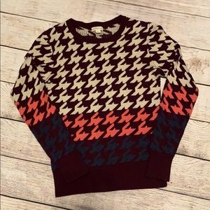 Merona Multi Colored Patterned Sweater